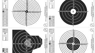 Мішень для стрільби з травматичного пістолета. (Завантажити мішень, формат А4).