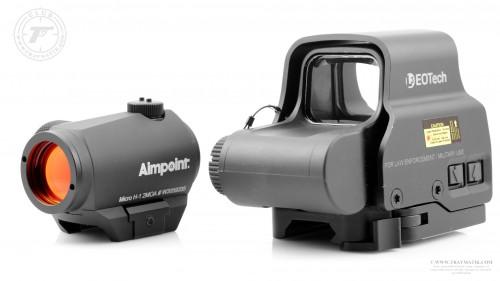 02. Коллиматорные прицелы Aimpoint Micro H-1 и EOTech XPS2.