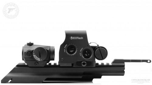 13. Aimpoint Micro H-1, EOTech XPS2 и крышка ствольной коробки от ME (Military Equipment).
