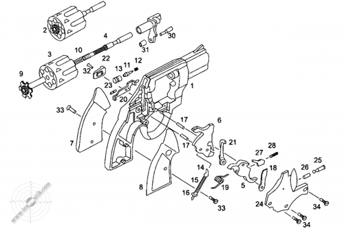 04. Травматический револьвер «SAFARI 820G». Взрыв-схема.