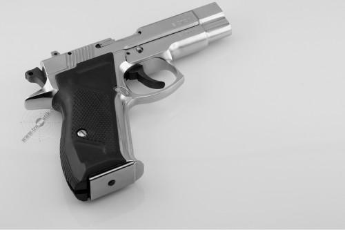 01. Пистолет «Форт-12Р» в никелированном исполнении.