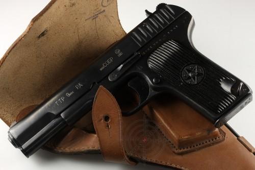 01. Травматический пистолет «ТТР» на базе «ТТ» 1941 года выпуска.